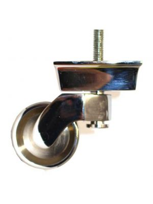Chrome Castor Square Shallow Cup Extra Large with Threaded Bolt
