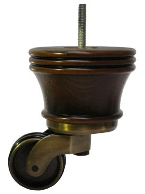Melissa Furniture Legs with Antique Shallow Castor with Double Rubber Tyre