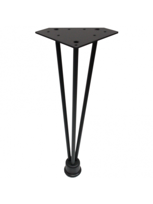 Veneto Hairpin Coffee Table Legs - Matte Black Finish